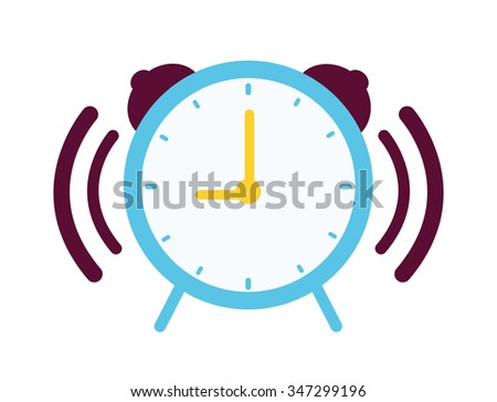 Clock with alarm sound graphic design, vector illustration eps10 - stock vector