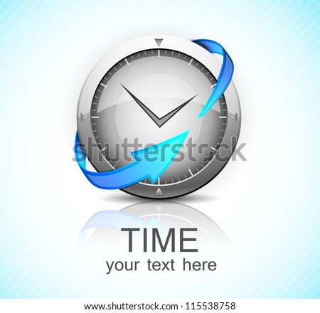 Clock with arrow