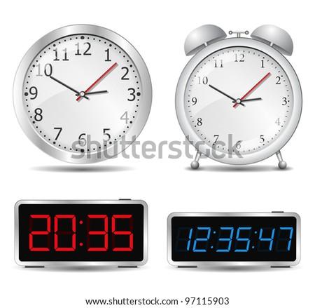Clocks, vector eps10 illustration - stock vector