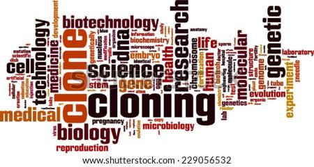 Cloning word cloud concept. Vector illustration - stock vector