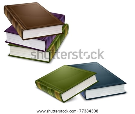 close new books in color cover with white sheet vector illustration - Pictures Of Books To Color