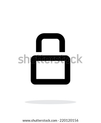 Close padlock icon on white background. Vector illustration. - stock vector