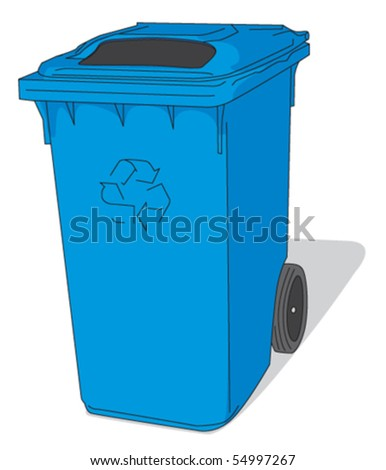 Close Recycling bin - stock vector
