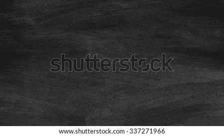 Close up of clean school horizontal chalkboard. Vector grungy texture with chalk rubbed out on black background - stock vector