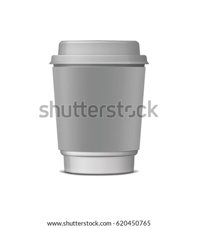 Close Takeout Disposable Paper Cup Isolated Stock Vector 620450765 ...