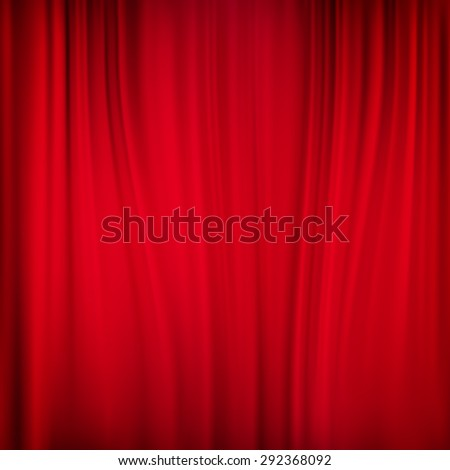 Close view of a red curtain. EPS 10 vector file included