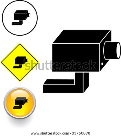 Closed Circuit Television System Security Camera Stock Vector 2018