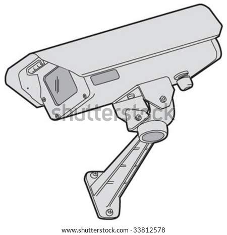 Closed-circuit video camera 1 - stock vector