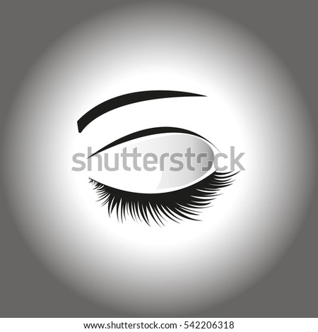 Closed Eyes On Grey Background Frame Stock Vector 542206318 ...