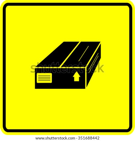 closed package box sign - stock vector