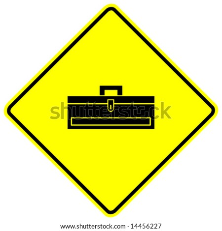 closed toolbox sign - stock vector