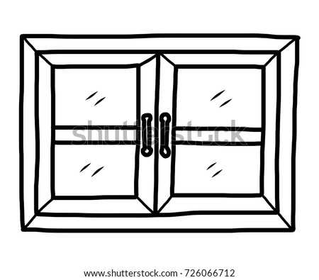 Cartoon Closed Windows Wooden Stock Images Royalty Free