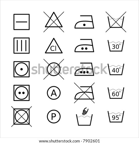 Clothes conservation icons - stock vector