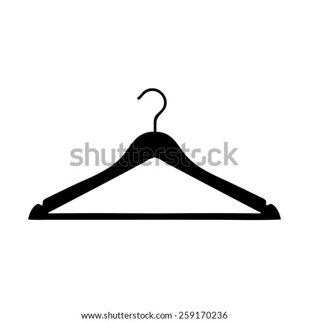 Clothes Hanger icon - stock vector