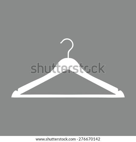 Clothes Hanger icon. - stock vector