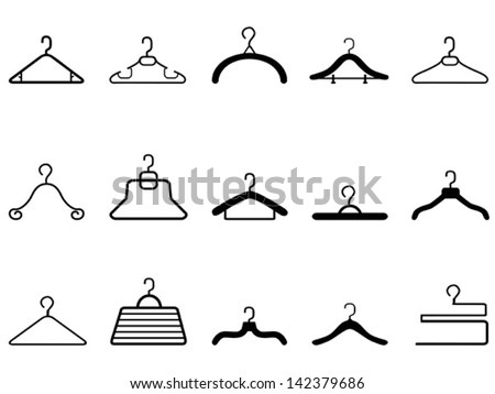 clothes hangers icon - stock vector