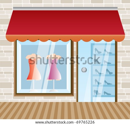 clothing Boutique and shop background- vector illustration - stock vector