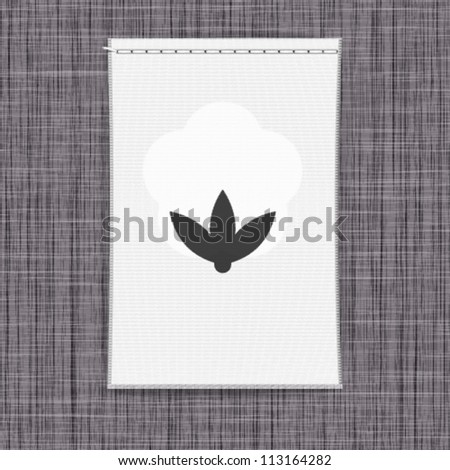 Clothing label background. Vector. - stock vector