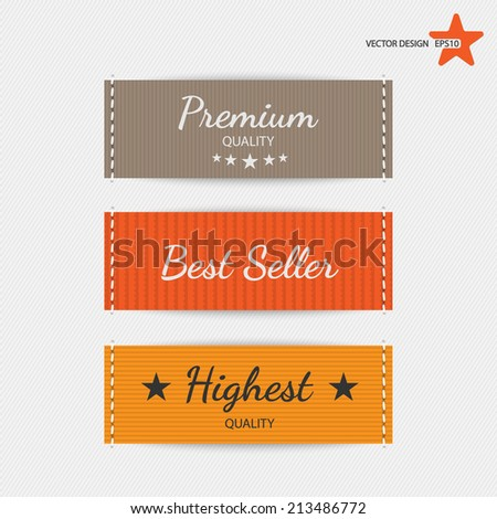Clothing labels. Vector.  - stock vector