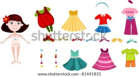 clothing set - stock vector