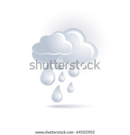 cloud and rain - stock vector