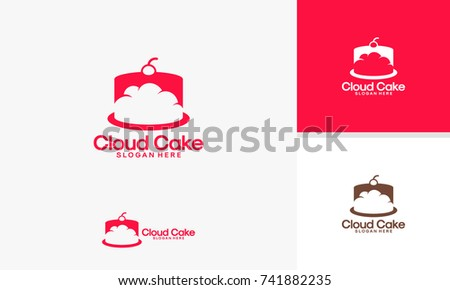 cloud cake logo designs template online stock vector royalty free