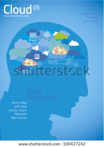 cloud computing 05 - stock vector