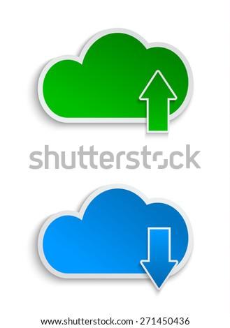 cloud computing and file sharing. vector illustration - stock vector