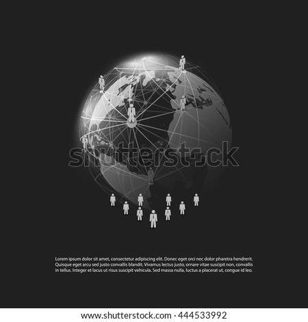 Cloud Computing and Networks Concept - Social Media, Business Connections - stock vector