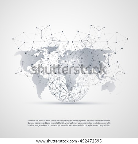 Cloud computing networks concept world map vector de stock452472595 cloud computing and networks concept with world map global digital network connections technology background gumiabroncs Image collections