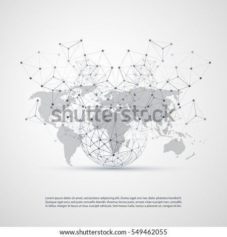 Cloud computing networks concept world map stock vector 549462055 cloud computing and networks concept with world map global digital network connections technology background gumiabroncs Images