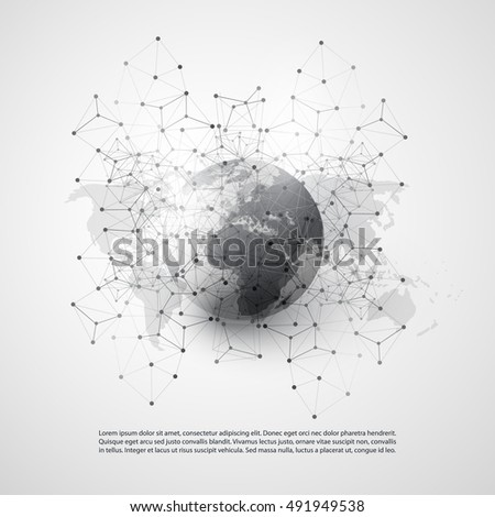 Cloud computing networks world map abstract vector de stock491949538 cloud computing and networks with world map abstract global digital network connections technology concept gumiabroncs Image collections