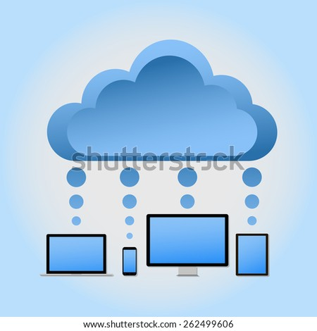 Cloud computing concept design. Vector illustration - stock vector