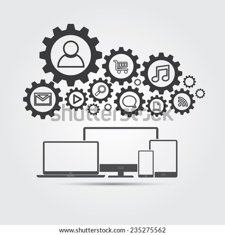 Cloud Computing Concept. EPS10 file and included high resolution jpg - stock vector