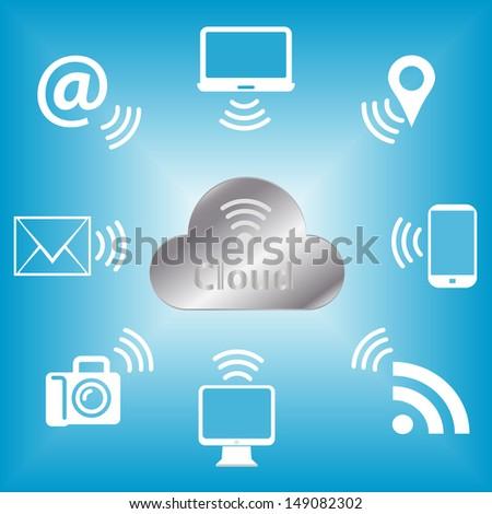 Cloud Computing concept icon - stock vector