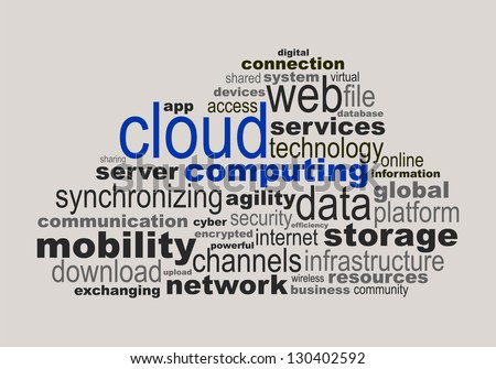 Cloud computing concept made with words - stock vector