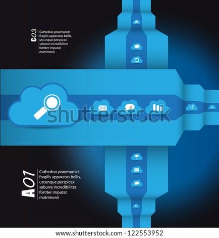 Cloud computing concept. Vector illustratio - stock vector