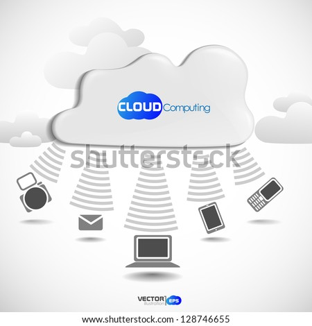 Cloud computing concept. Vector illustration. Eps 10.