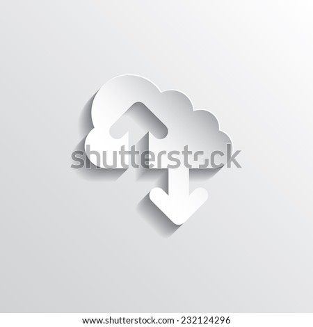 Cloud computing concept. Vector illustration in EPS10. - stock vector