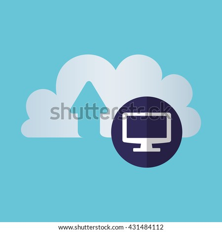 Cloud computing design. Trip icon. Flat illustration , vector