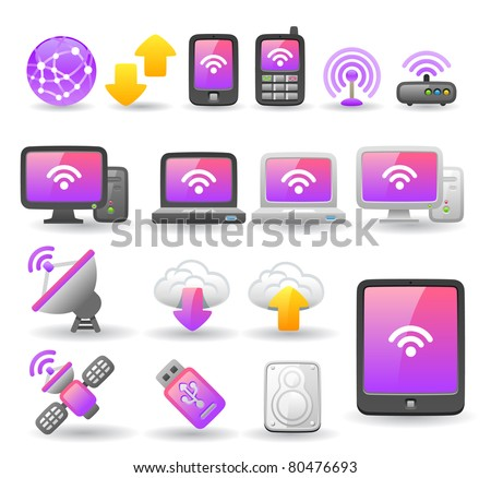 cloud computing device - stock vector