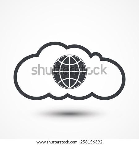 Cloud computing globe - stock vector