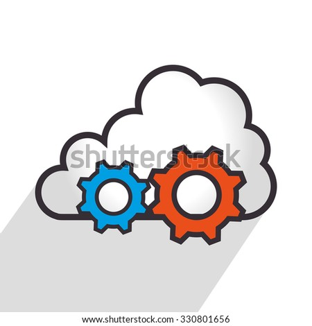 Cloud computing graphic design, vector illustration eps10.