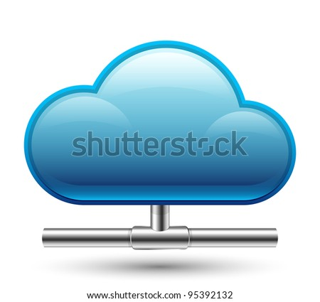 Cloud Computing Icon. Vector Illustration - stock vector