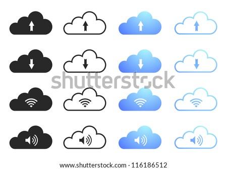 Cloud Computing Icons - Set 2 - stock vector