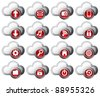 Cloud Computing icons virtual cloud - stock vector