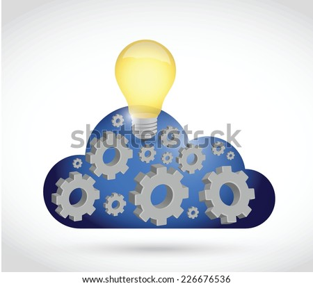cloud computing industry illustration design over a white background - stock vector