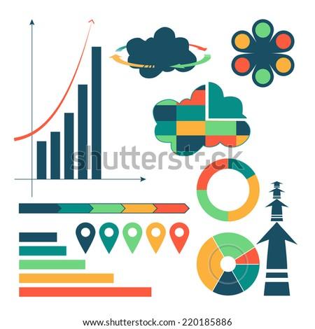 Cloud computing info-graphic elements - stock vector