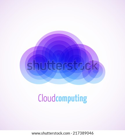 Cloud computing logo template icon. Vector illustration - stock vector