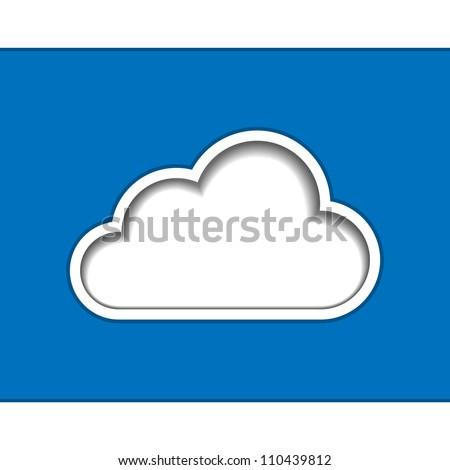 Cloud computing logo template. Vector illustration - stock vector